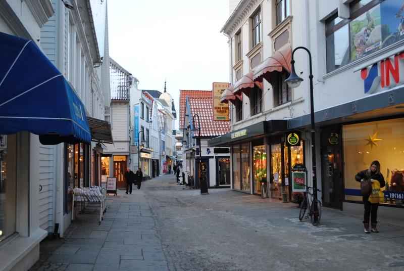 Une rue piétonne de Stavanger