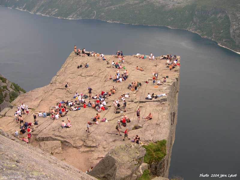 Photos lysefjorden Jorn Loset 2004